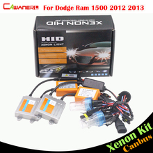 Cawanerl 55W No Error Ballast Bulb AC HID Xenon Kit 3000 4300K 6000K 8000K Car Headlight Low Beam For Dodge Ram 1500 2012 2013