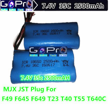 Wholesale 2500mah Lipo Battery 7.4V MJX F45 F645 T23 T623 F49 T40 T40C Series RC Helicopter DH9053 9104 9101 Spare Parts Battery(China)