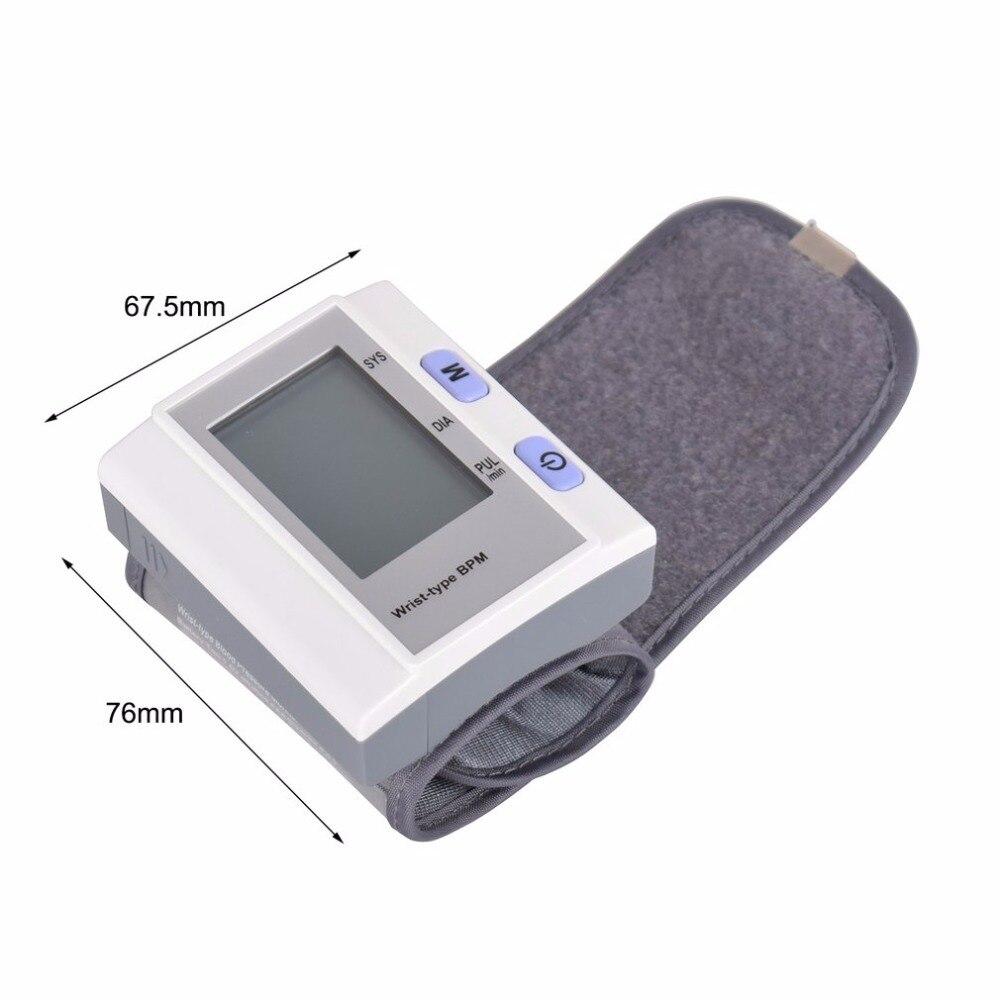 Wrist Type Full-automatic Tonometer Meter Smart Digital Blood Pressure Monitor Health Care Household Sphygmomanometer Hot New 6