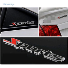 car styling 3D metal Sports stickers Toyota/mazda/Fiat/skoda/Hyundai/Seat leon/lada/Renault/AUDI/BMW/opel car accessories