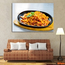 Fried Noodles Modern Wall Art Unframed Paintings Food Poster Canvas Printed Painting for Living Room Home Decor Picture(China)