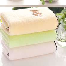 New Arrival Pure Cotton Untwisted Embroidered Towel Puppy Washcloth Washrag High Quality Cotton Made in China Home Decor Towels