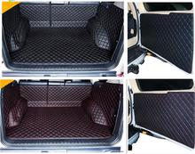 Newly! Special trunk mats & Rear door mat for Toyota Land Cruiser Prado 150 5seats 2016-2010 durable boot carpets,Free shipping
