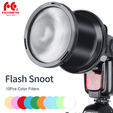 Falcon Olhos 10 pcs Filtros de Cor do Flash Speedlite Snoot Focado para Canon Nikon Sony Speedlite Godox(China)
