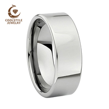 8mm Tungsten Carbide High Polish Classic Pipe Cut Wedding Band Ring For Men Or Ladies(China)