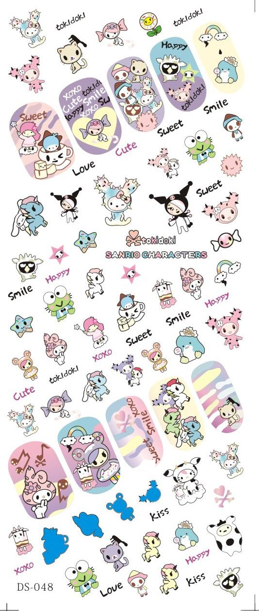 DS048 Water Transfer Foils Nail Art Sticker Harajuku Cartoon Style Manicure Decals Minx Nail Decorations Stickers for Nail<br><br>Aliexpress