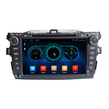 "Quad Core 1024*600 Android wifi 8"" In dash head unit car dvd player gps nav for corolla 2008-2011 16G Nand Flash"