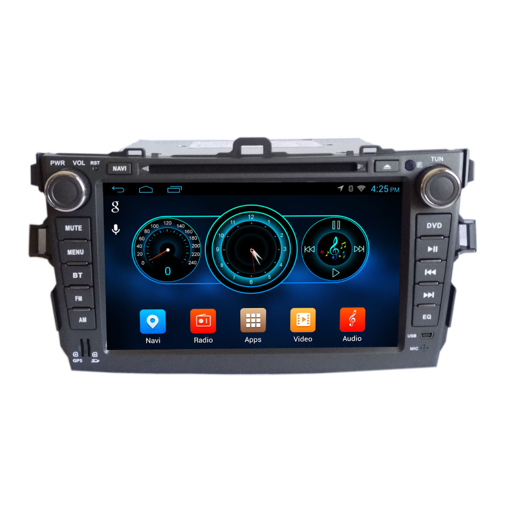 "Quad Core 1024*600 Android wifi 8"" In dash head unit car dvd player gps nav for corolla 2008-2011 16G Nand Flash(China (Mainland))"