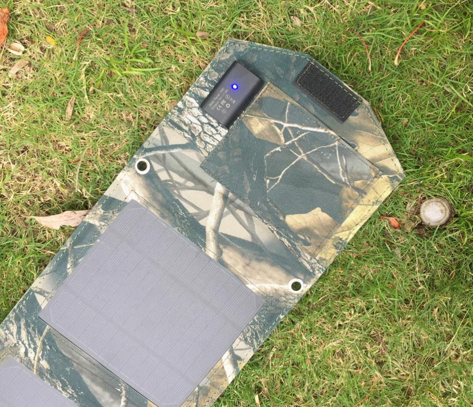 Foldable Solar Panel Cell Folding External Battery Solar Charger Portable Power Bank USB Mobile Chargers for Cell phones mp3