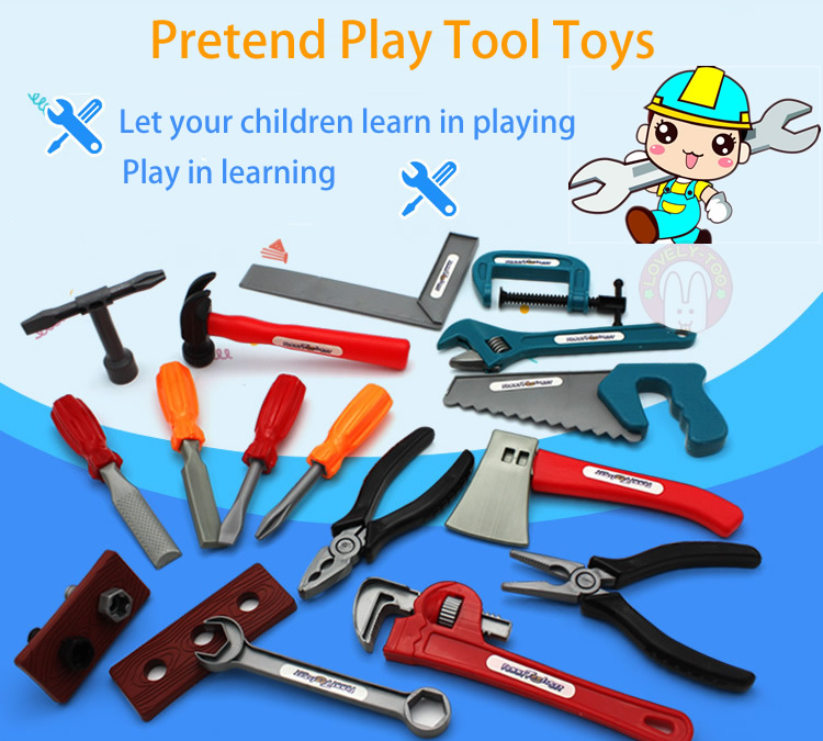 22 Pcs Boy Toy Tool Sets Box Educational Pretend Play Kids Learning Game New