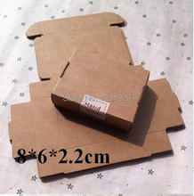 Size 8*6*2.2cm Natural Kraft Folding Gift Box Kraft Gift Box Handmade Soap Cosmetic Packaging Brown Paper Box