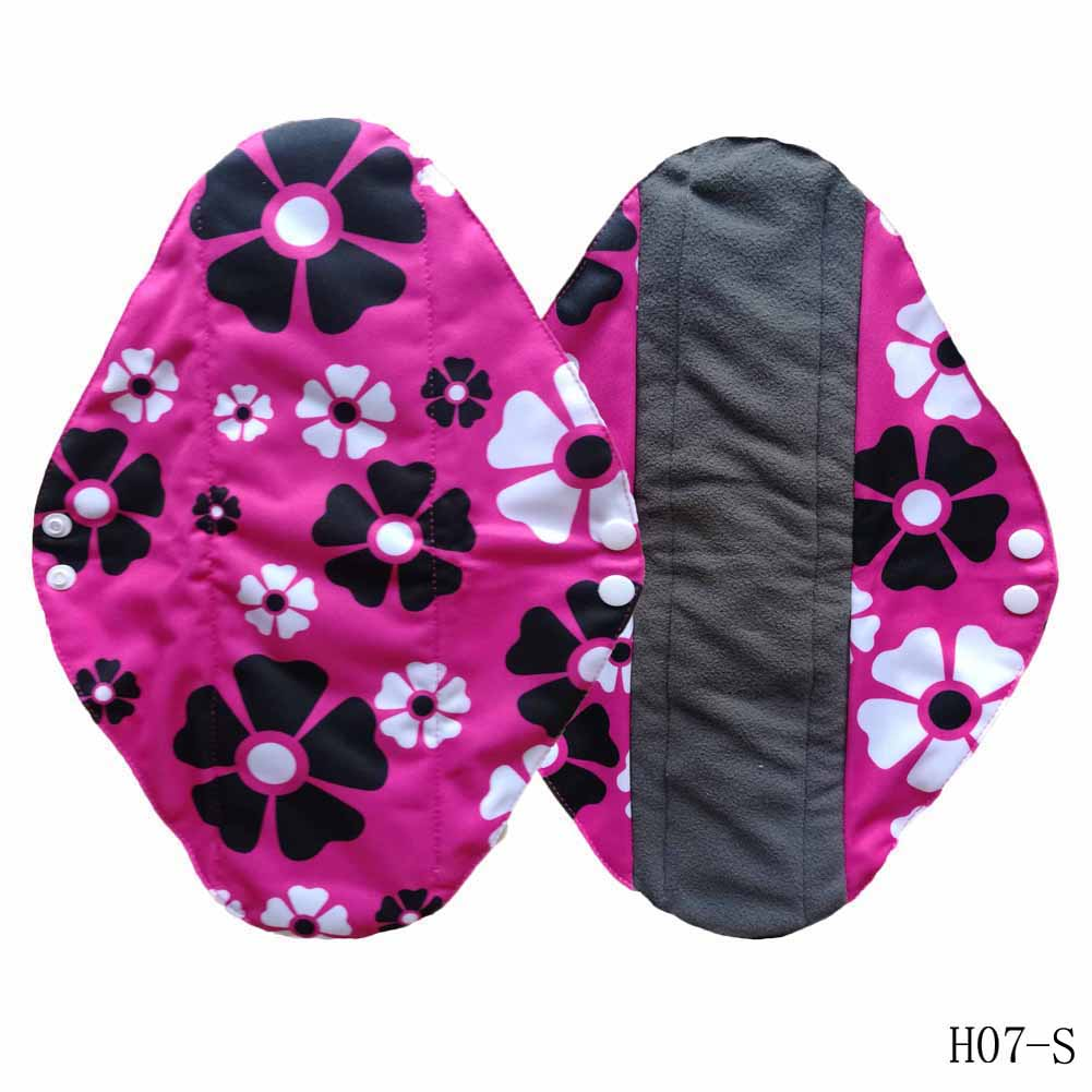 1pc New Arrival Women's Reusable Bamboo Cloth Washable Menstrual Pad Mama Sanitary Towel Pad Pretty Feminine Hygiene Product 8