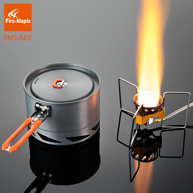 Fire Maple Outdoor Single Cooking Backpack Set Stainless Steel Windproof Stove 2900W Heat Exchange 1.5L Cooking Pot Set FMS-AE3<br>