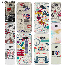 BiNFUL Fashion British style London Classic Car style hard clear phone Case cover for Samsung Galaxy A5 2017 A7 A510 A710 A310 A(China)