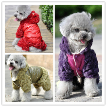 New Pet Winter Dog Jumpsuit Rose Fleece Cotton-Padded Clothes New Thickening Dog Jumpsuit Winter Dog Coat For Pet P058