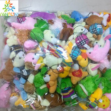 Bulk 100pcs/lot Collection Of Plush Animals Various styles package Dolls For Phone/Key/Bag Pendants Soft kids toys(China)