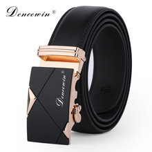 100% Good Quality Famous Brand Belt Men Cowskin Genuine Luxury Leather Men's Belts for Men,Strap Male Metal Automatic Buckle(China)
