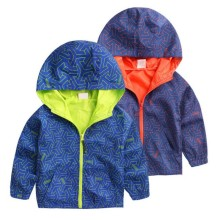 Spring/Autumn Boy And Girls Outwear Children's Hooded Jackets Kid Long Sleeve Windbreaker Y08