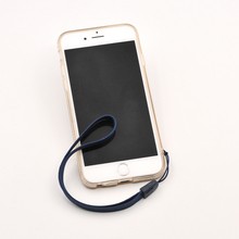 Woven nylon wrist hand cell phone mobile chain straps keychain Charm Cords DIY Hang Rope Lanyard For Keys mobile phone strap(China)