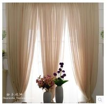 2015 Fashion product simple and elegant screens American country curtains customized yarn volie curtain for bedroom