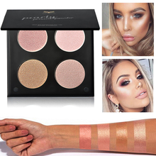 HUAMIALI Face Base Pressed Powder Multi-function 4 Color Makeup Shimmer Fix Palette Concealer Contour Nude Compact Cosmetics(China)