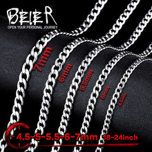 Wholesale Cheap Stainless Steel Water Wave Chain Necklace For Man Woman Super Quality BN1025