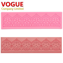DIY Lace Flower Vine Pattern Silicone Cake Mold Mat Fondant Cake Decorating Silicone Embossed Pad Chocolate Candy Mould N2317