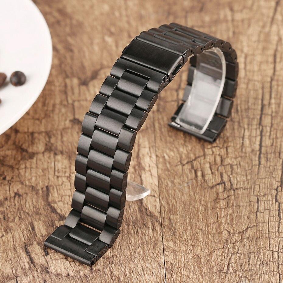 2022 mm Universal Milanese Watchband Quick Release Watch Band Mesh Stainless Steel Strap Wrist Belt Black Bracelet (7)