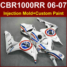 Hot sale cbr1000rr 06 07 body parts for HONDA Repsol white fairings 2006 2007 CBR1000RR fairing kit  CBR1000 RR bodykits
