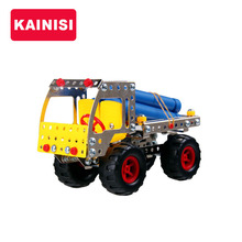 KAINISI Metal Model Building Kits Loading Fir Car Enlighten Assemblage education DIY children Toys VS 3d metal model kits