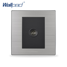 2017 Hot Sale TV Socket Wallpad Luxury Television Wall Socket Outlet Black / Champagne AC 110-250V