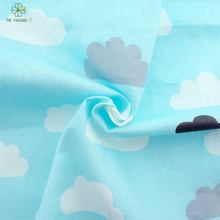Printed Clouds  floral pattern cotton fabric Tilda For Baby Bedding Clothing Tecido Quilting Sewing Tecidos Baby apron 160*50 cm