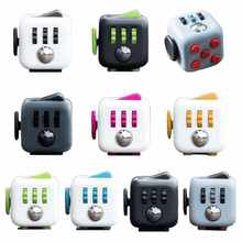 6pcs/lot Quality Fidget Cube 3.3x3.3cm Frosted Surface Good Hand Feeling Desk Spin Magic Cubes Stress Relief Toys(China)