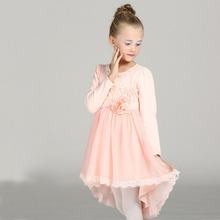 pendulum flower girls dress long sleeve toddler girl clothing 3 6 8 agechildren party frock princess costume child fancy frocks(China)