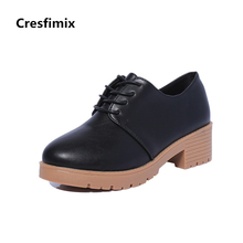 Buy Cresfimix botas femininas women casual medium heel short boots lady leisure street ankle boots female comfortable lace shoes for $15.75 in AliExpress store