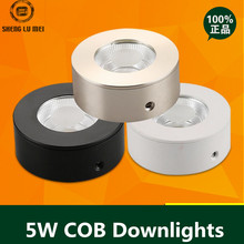 10PCS/LOT LED surface mounted downlight COB ceiling spot lights backdrop lights without opening round 3W5W display cabinets