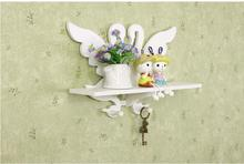 White Swan Shelf Wall Rack Home Decorative Furniture Wall Shelves For Living Room Holder Bathroom Shelf