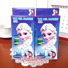 Disney Cartoon Frozen Pen Brush For Children Gifts 12 Colors Touch Markers Sketch Drawing Manga Art Supplies Stationery