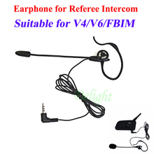 Football Soccer Referee Microphone Headset Earhook Earphone for V6 V4 FBIM Intercom Football Referee Referee Intercom Headphone
