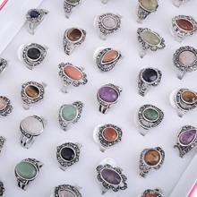 Imixlot 2017 Real Special Offer Trendy Wholesale 5pcs/lot Vintage Tibetan Natural Stone Rings Lot Jewelry Women Party Gift