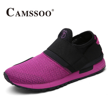 2017 Camssoo Womens Trail Running Shoes Outdoor Light Weight Breathable Sports Shoes Black Purple For Women Free Shipping 6032(China)