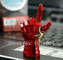 100% real capacity Hot sale ! metal with  LED light  Iron man hand model Usb Hot usb 2GB 4GB 8GB 16GB  usb flash drives S20