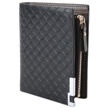 Buy Brand Designer Men Wallets PU Leather Business Men's Wallets Male Card Holder Money Pocket Long Purse Plaid Pouch Short Wallets for $5.59 in AliExpress store