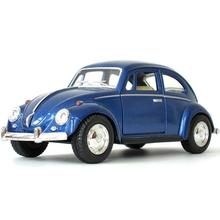 High Simulation New 1:32 Volkswagen Beetle 1967 Retro Alloy Car Model Classic Car With Pull Back For Kids Christmas Gifts Toy(China)