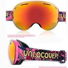 Brand VOLOCOVER New Design Ski Goggle Snow Glasses /UV- Protection Multi-Color double anti-fog lens Snowboard Skiing Goggle with