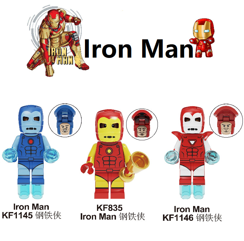 Vision Plating Minifigure Marvel Avengers comics Superheroe Fit Lego Minifigs