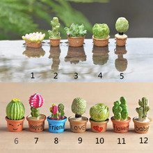Mini Flower Trees Miniature Plants Garden Decor Fairy Home Houses Decoration Crafts DIY Accessories(China)