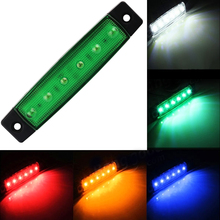 1pcs 12V 24V 6 SMD LED Car Bus Truck Trailer Lorry Side Marker Indicator Light Side Lamp Trailer Rear Tail Stop Turn Light(China)