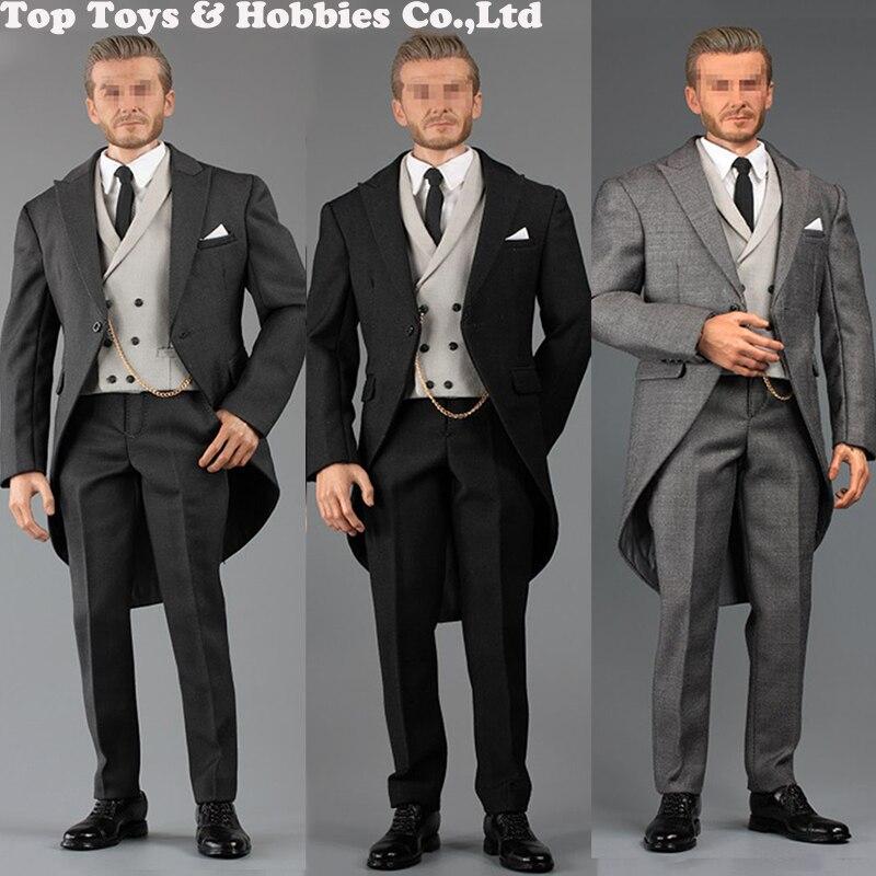 "1:6 Scale Career Formal Suit Shoes 12/"" Male Action Figure Clothes Set"