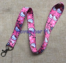 Lot 10Pcs Classic hello kitty Cartoon Mobile Cell Phone Lanyard Neck Straps Party Gifts MM917(China)